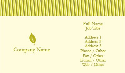 Green and Yellow Landscaping Business Card Template